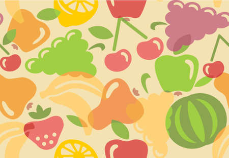 Seamless background of fruit Vector