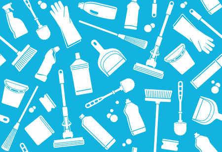 Seamless background of cleaning Vector