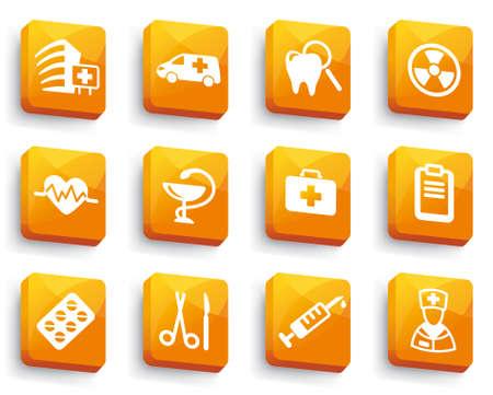 enfermera quirurgica: Conjunto de botones m�dicos