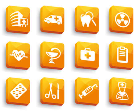 Set of medical buttons  Vector