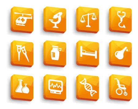 Set of medical buttons Stock Vector - 17779659