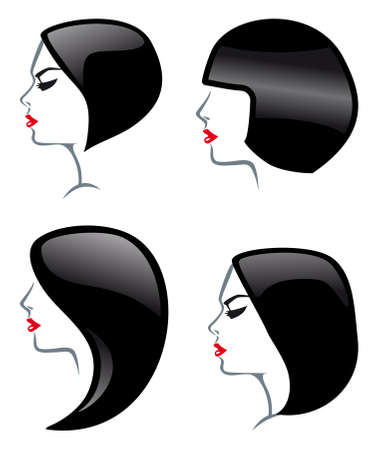 Hair Styles icons Vector