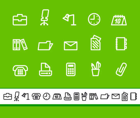 Office and business icons Stock Vector - 18630355