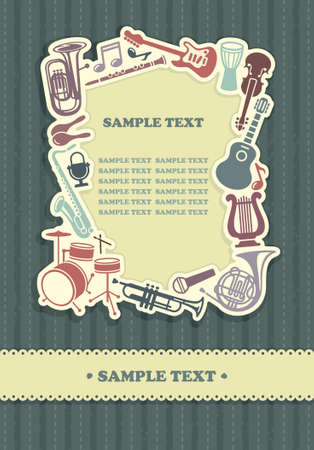 musical instruments: Background with a framework from musical instruments