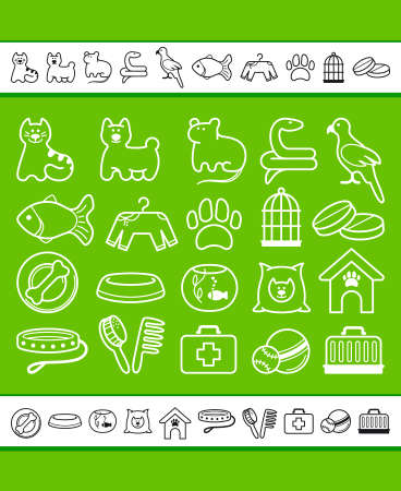 Pets care icon set Stock Vector - 18872663