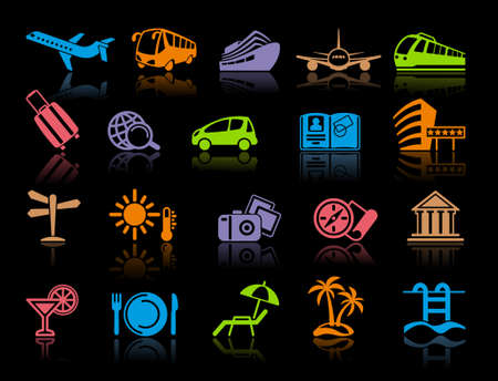 Travel Icons Stock Vector - 19584124