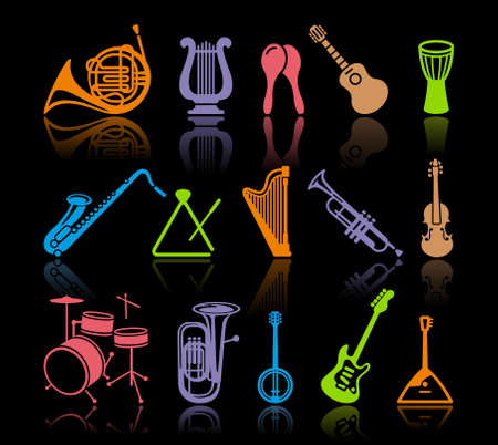 percussion:  Icons of musical instruments