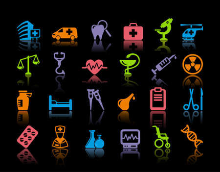 Medical icons Stock Vector - 19584123