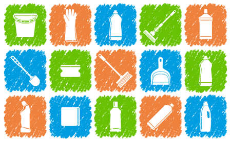 Cleaning icons Stock Vector - 19796846