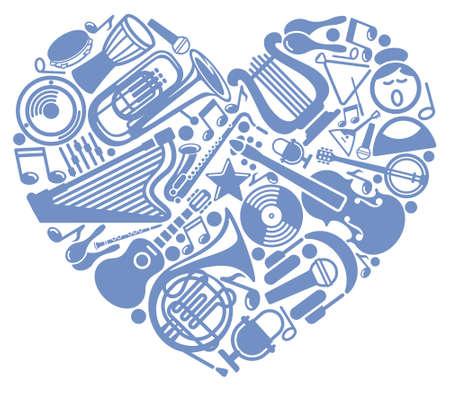 notes musicales: J'aime la musique