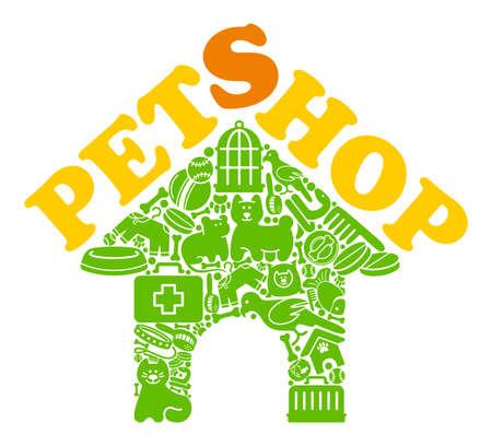 tienda de animales: Pet shop s�mbolo Vectores
