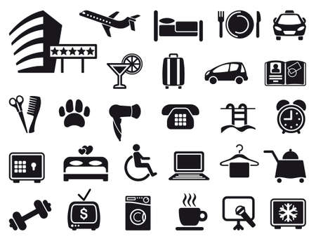 hotel icons: Icon on a theme of hotel service