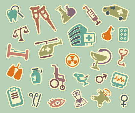 Medical icons Stock Vector - 21961640
