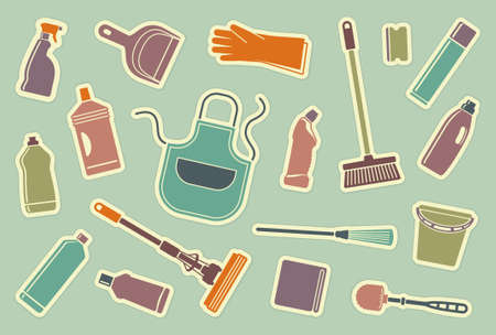 cleaning products: Cleaning icons