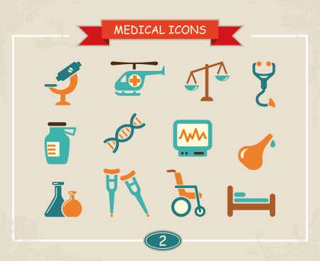 surgical nurse: Medical icons Illustration