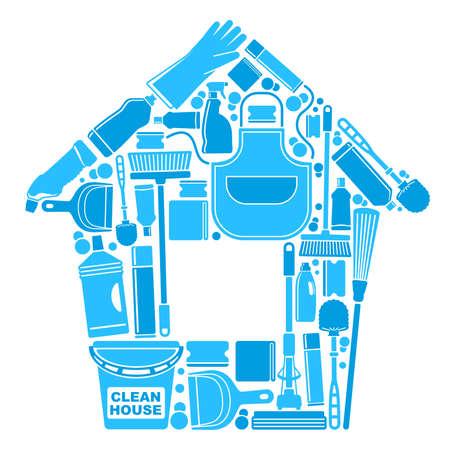 escoba: Símbolos de una casa limpia