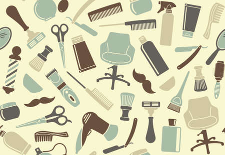 Barbershop seamless background Vector