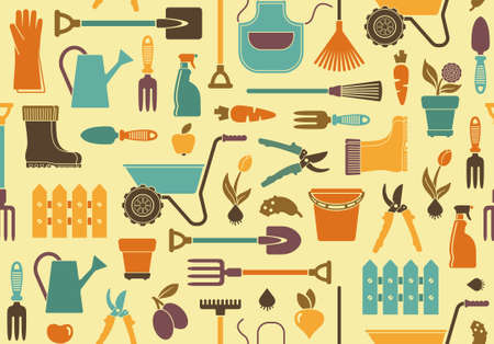 hoe: Garden background Illustration