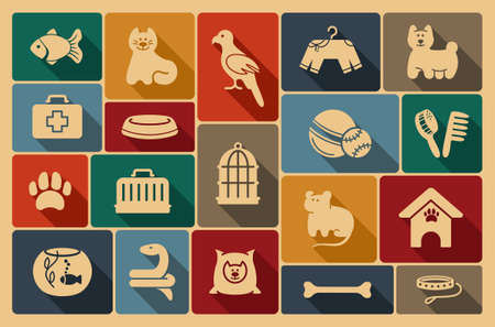 Animali cura icon set
