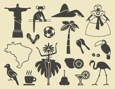 Brazilian icons Vector