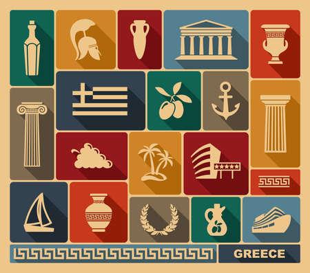 greek islands: Greece icons