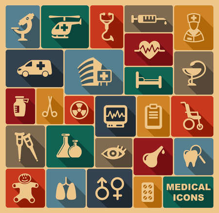 pediatrics: Medical icons Illustration
