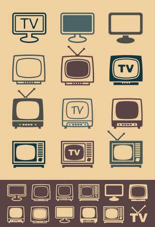 vintage television: Retro tv receiver vector - Illustration Illustration
