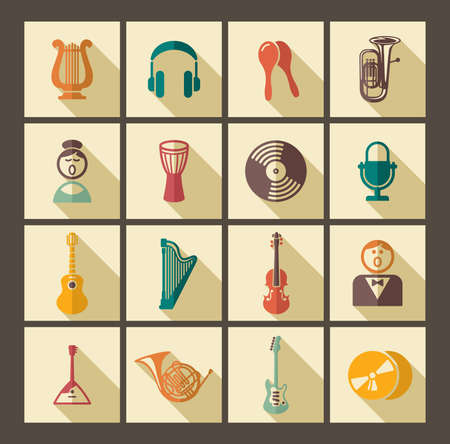 vocal: Icons of musical instruments Illustration