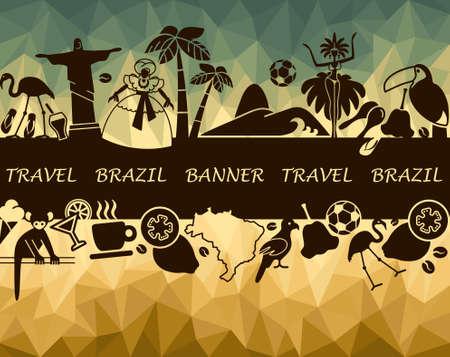The Brazilian banner Vector
