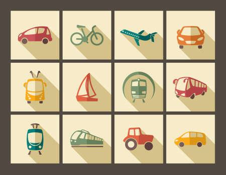 transportation silhouette: Transport icons