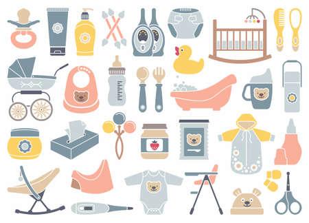 sonaja: Iconos de los productos para los reci�n nacidos Vectores