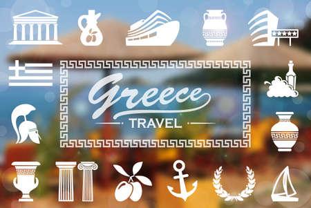 vasi greci: Sfondo greco Archivio Fotografico