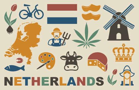 netherlands: Netherlands icons