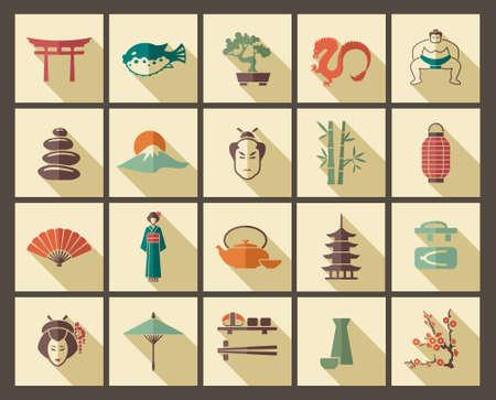 dragon calligraphy: Japan icons