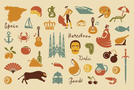 sagrada familia: Traditional symbols of Spain