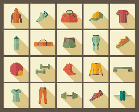 accessory: Sports clothing, equipment and accessories Illustration