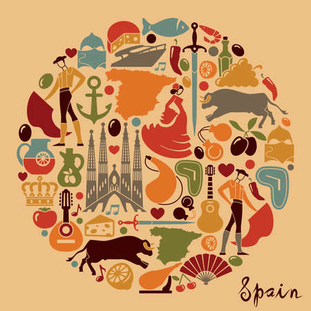 gaudi: Traditional symbols of Spain