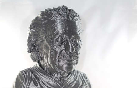 3D printed Albert Einstein Bust Silver Metallic look