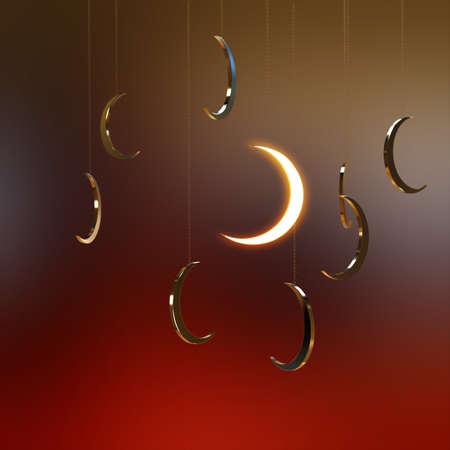 Crescent Moon 3D render Stock Photo - 14324156