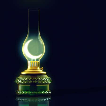 3D render of a lantern