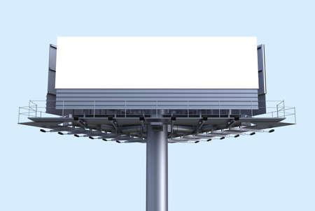 Empty Billboard Front Shot 3D Render Stock Photo - 62185625