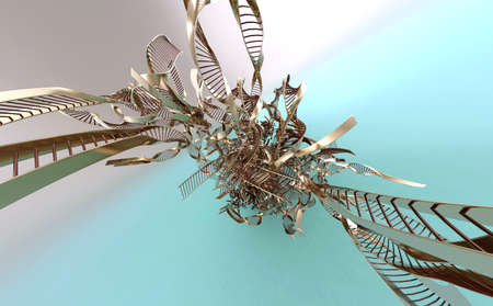 DNA Forms 3D Render