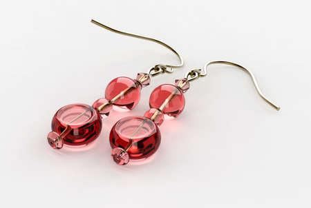 Pink Earrings 3D Render