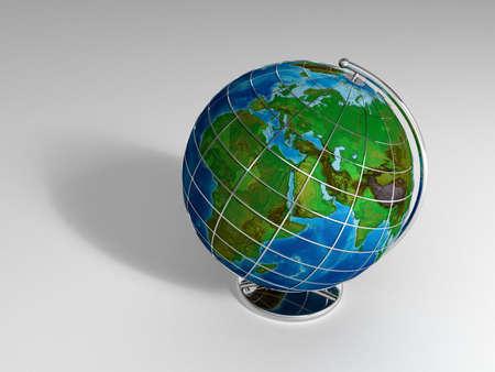 Globe Shot 3D Render Stock Photo