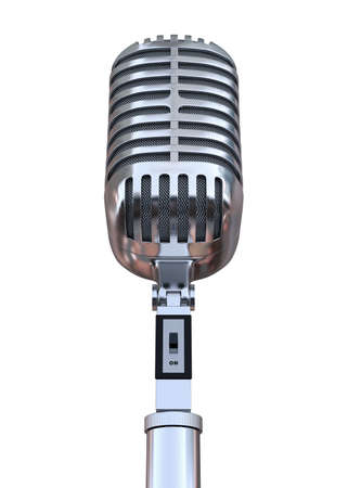 Chrome Microphone 3D Render Stock Photo - 62185678