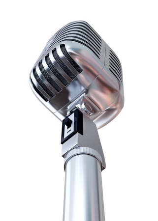 Chrome Microphone 3D Render Stock Photo - 62185730