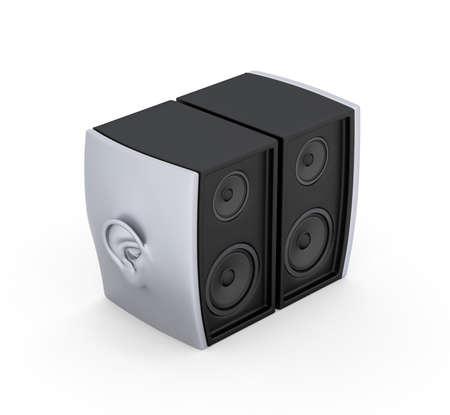 Ear speakers Perspective 3D Render