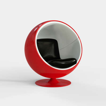 render: Spherical Seat 3D Render