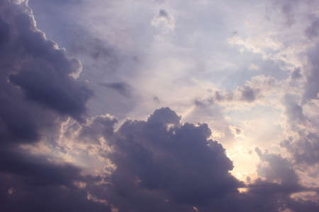 fluffy clouds: Clouds in the sky