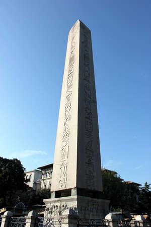 Egyptian Obelisk at Hippodrome at Sultanahmet Square, Istanbul, Turkey